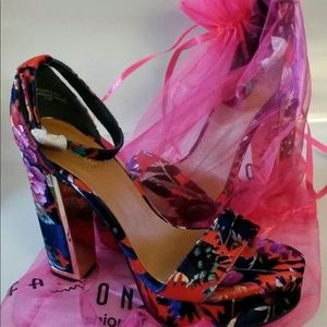 "Marine blooms 5"" heels shoes so 9 bamboo nova"